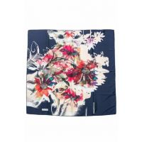 Flowered Navy Blue Aker Sport Scarf10200219126769
