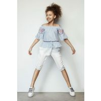 Girls' White Pants 19SS1TJ4225