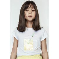 Girl's White T-Shirt 19SS2TJ4550