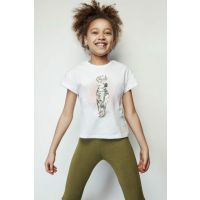 Girl Child White T-Shirt 19SS1TJ4538