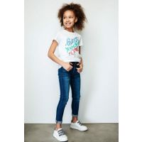 Girl's White T-Shirt 19SSGJ91I38