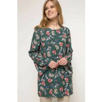 Women's Handles Flywheel Detailed Floral Pattern Tunic I4405AZ.18SP.GN671