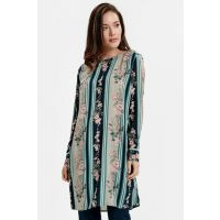 Women's Green Patterned Tunic 8SB069Z8