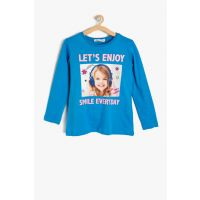 Blue Girl Boy Written Printed T-Shirt 9KKG17982OK