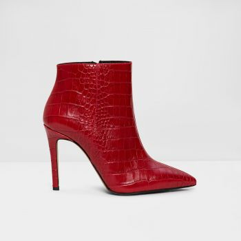 Genuine Leather Red Women Boots & Bootie