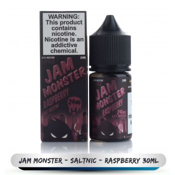 JAM MONSTER  SALTNIC Raspberry 30ML 24MG