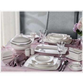 86 Pieces Luxury Bone China Dinnerware Set