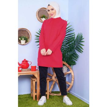 Thessaloniki Fabric Double Pocket Red Tunic
