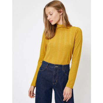 High Neck T-Shirt - Mustard