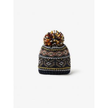 JACQUARD PATTERN KNITTED HAT