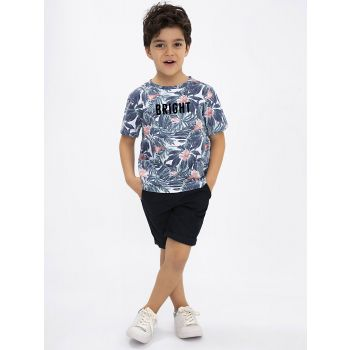 Boy Patterned Cotton T-Shirt