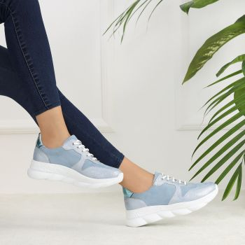 Waltz Blue Thick Sole Sports Shoes