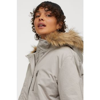 Hooded and Padded Parka