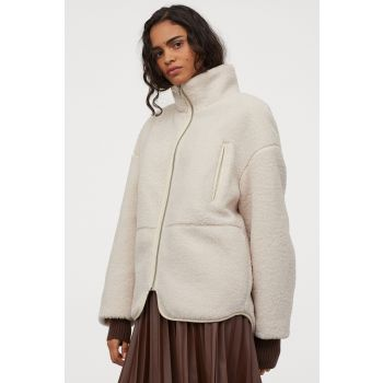 High Collar Hairy Jacket
