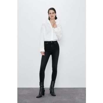 ZW PREMIUM '80S HIGH WAIST SHADOW BLACK JEANS