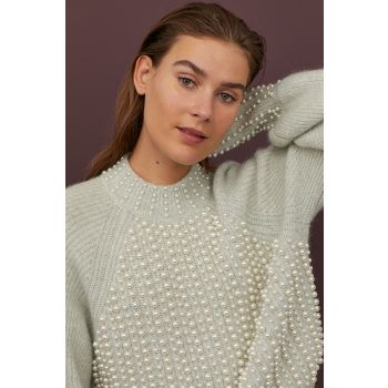 Beaded Wool Sweater