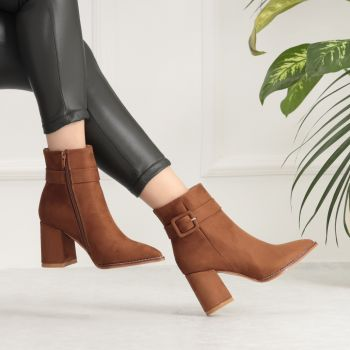Nogma Suede Taba Colored Arched Boots