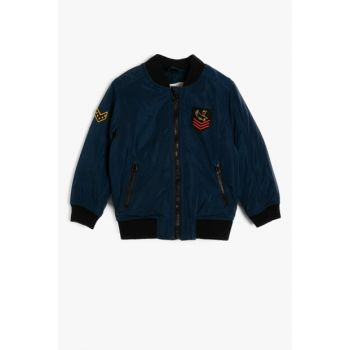 Navy Blue Boy Jacket 8YKB26279OW