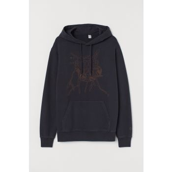 Printed and Hooded Top