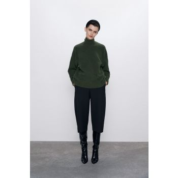 HIGH NECK WOOL BLEND SWEATER