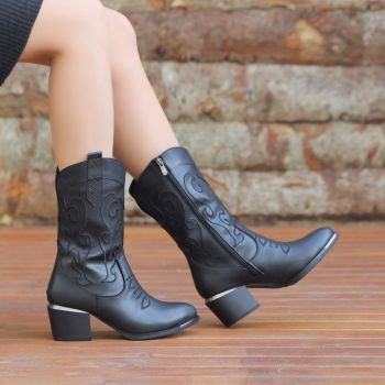 Redlay Thick Heels Western Boots