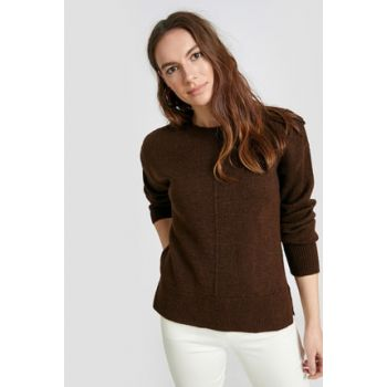 Women's Dark Brown Pullover 9W7360Z8