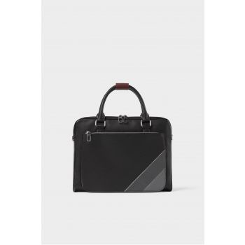 COLOURFUL CONTRAST EMBOSSED BRIEFCASE