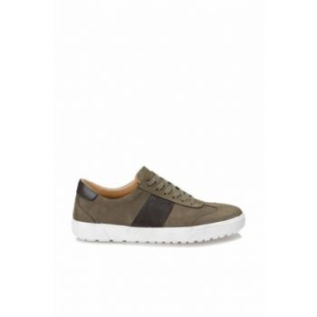 Genuine Leather Khaki Mens Sneaker 000000000100367776