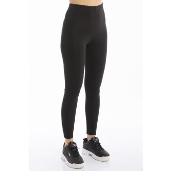 Women's Black Plain Diver Leggings 1652