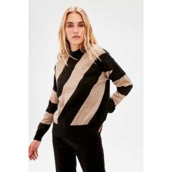 Camel Color Blocked Sweater TWOAW20KZ0909