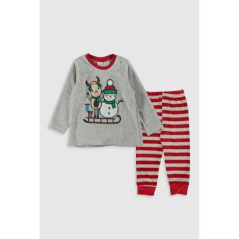 Baby Boy Brokenwhitemelange Cx8 Pajamas Set 9W8277Z1