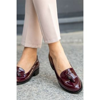 Claret Women Oxford Shoes 002056WR