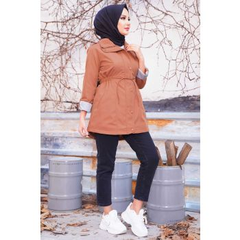 Cinnamon Trench Coat