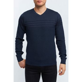 Men's Oil V Neck Sweater - A82R5002