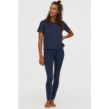 Printed Jersey Pajamas Set