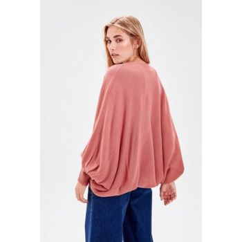 Rose Dried Balloon Sleeve Sweater Cardigan TWOAW20FV0002