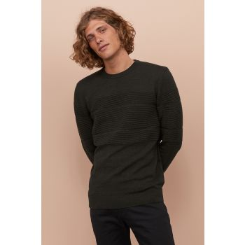 Cotton Textured Knitwear Sweater