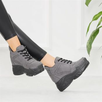 Romig Suede Gray Hidden Sole Sports Shoes