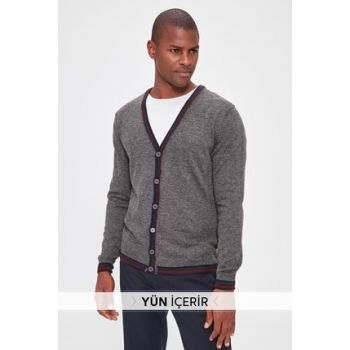Anthracite Men Cardigan TMNAW20HI0033