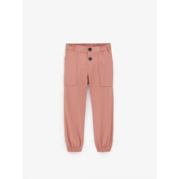 BUTTONED JOGGING TROUSERS