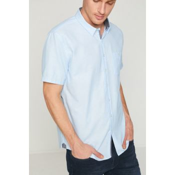 Men's Blue Shirt 8YAM62194OW