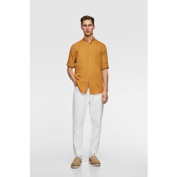 RUSTIC SHIRT WITH STAND-UP COLLAR