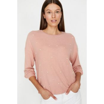Women's Pink Sweater 9KAK13773EK