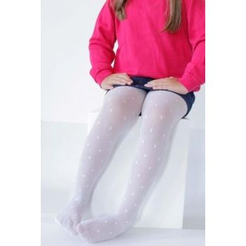 ITALIAN White Girl Children Pantyhose Polka Dot 5151 ITL-5151