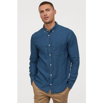Linen Blended Denim Shirt