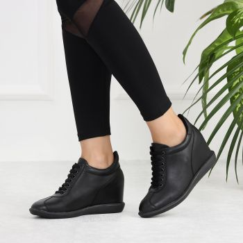 Fiji Black Hidden Heels Sneakers
