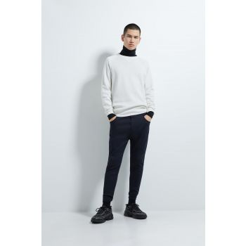SOFT DENIM JOGGING TROUSERS