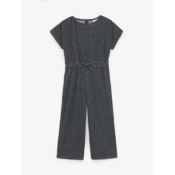 PLEATED JUMPSUIT WITH BOW DETAIL