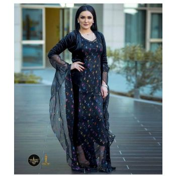 Kurdish Dress and Long Sleeve Jacket Set