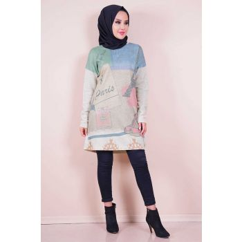 Digital Print Mink Color Tunic